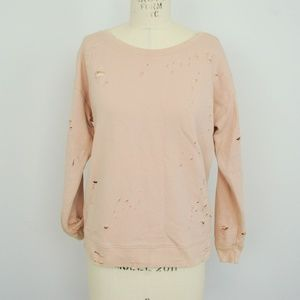 Express One Eleven Distressed Sweatshirt